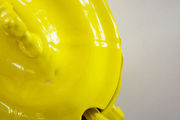 Yellow painted serving dish