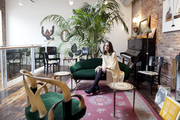 Vintage furniture and a piano in a living space