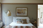 A neutral bedroom in the Hudson Valley