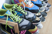 A collection of colorful sneakers