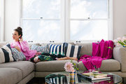 Actress Katie Lowes on her modern sofa