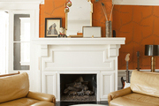 Fireplace-front sitting area