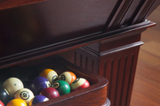 A billiard table in a lounge