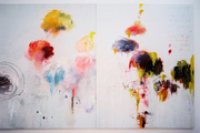 Cy Twombly, Untitled Painting (Say Goodbye Catullus, to the Shores of Asia Minor) (A Painting in Three Parts) (1994)