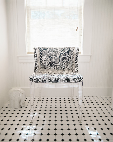 Fantastic The Best Way To Do That In A Bathroom Is  Subway Tile In Your Shower And Walls Looks Clean And Classic, And Allows A Large Patterned Floor Tile To Become The Center Of Attention! This Eclectic Tile Floor Proves That Black And White Accents