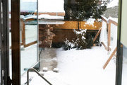 Glass and Metal hot tub
