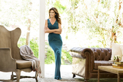 Cindy Crawford in a Malibu, California equestrian tack room