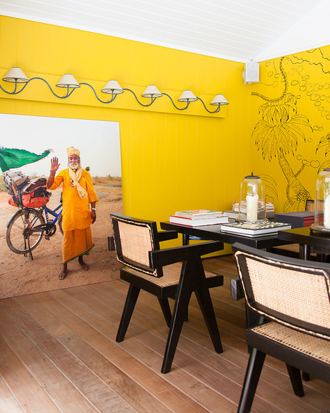Dining Room - The yellow dining area of La Banane