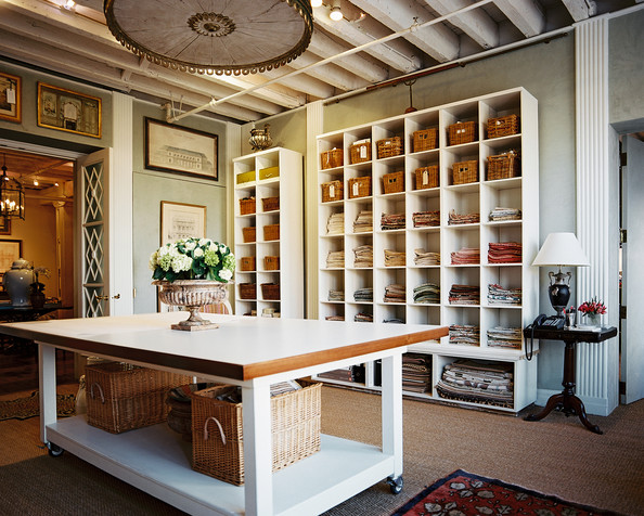 Rustic Traditional Work Space