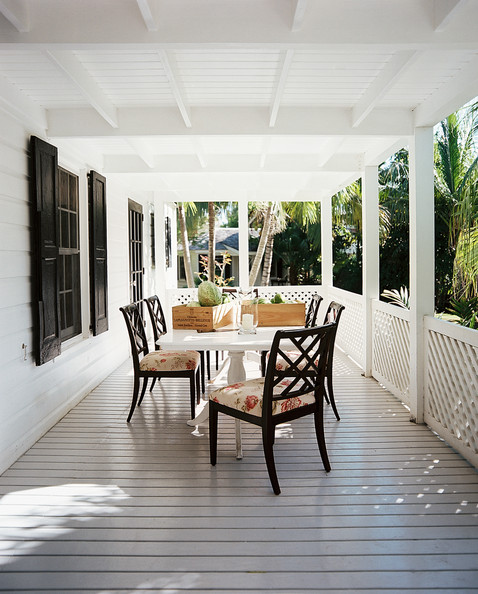 Front Porch - An outdoor dining area on a porch