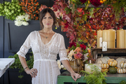 Owner Stephanie Schur in her L.A. shop, Botany Flowers
