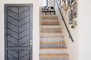 Stenciled stair risers