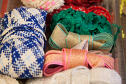 Festive ribbon at the ready for gift wrapping at Thomas Sires