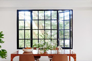 Art deco apartment cast iron dining room windows