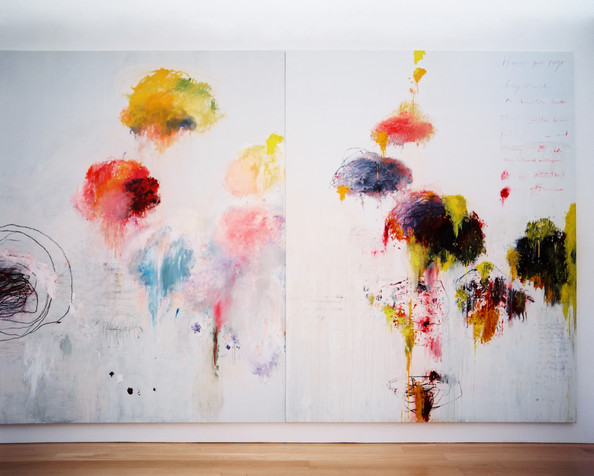 January February 2013 Issue - Cy Twombly, Untitled Painting (Say Goodbye Catullus, to the Shores of Asia Minor) (A Painting in Three Parts) (1994)