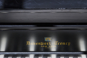 A detail shot of a piano