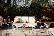 A collection of vintage patio furniture