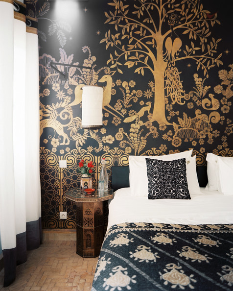 Moroccan - A black-and-gold wall mural