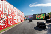 Alfresco presentation of bold graffiti compositions