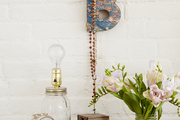 A charming bedside table of collected treasures