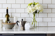 White subway tile looks particularly fresh with a darker grout.