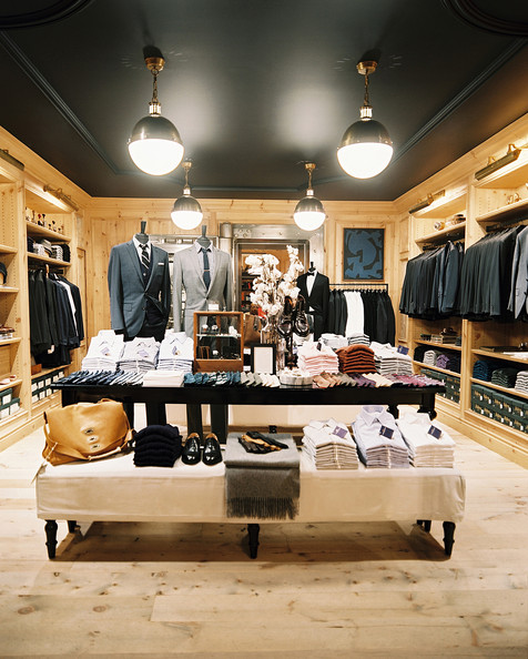 retail store design clothing on display at the j crew men 39 s shop