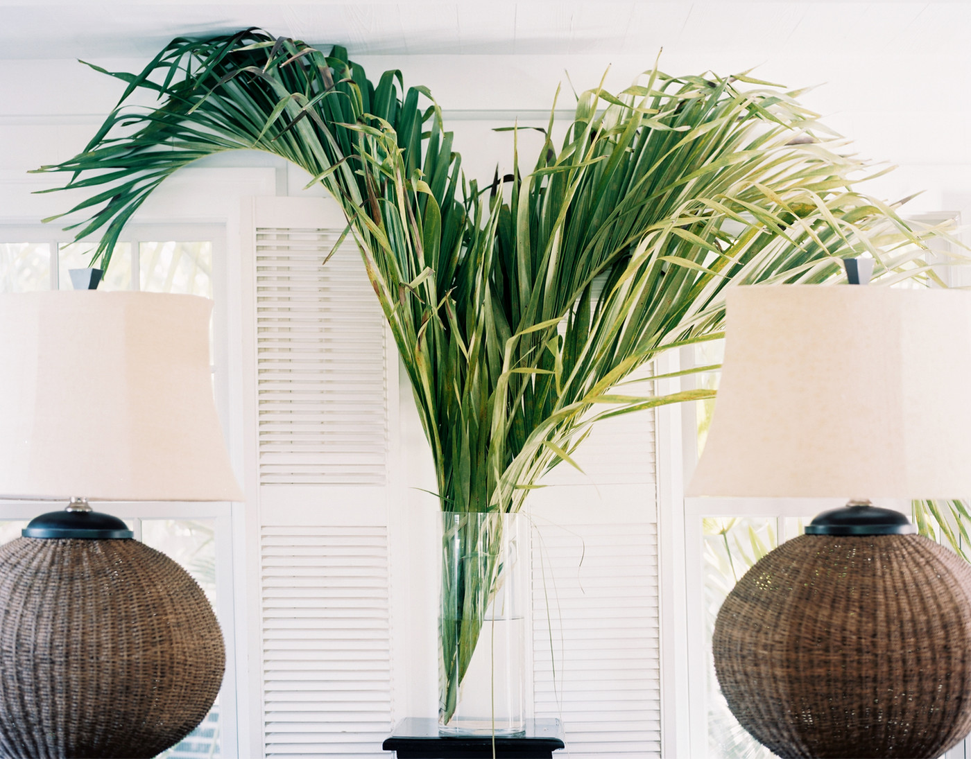 Decorating Ideas Palm Frondz In Vases