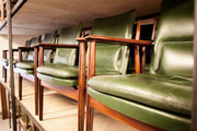 Danish Modern leather armchairs at ReModern, outside Copenhagen