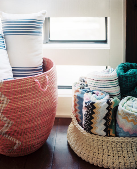 Decorating Bathroom Baskets Towels : Towel cubby photos design ideas remodel and decor lonny