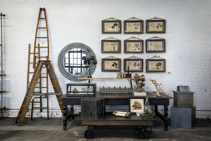 Industrial Style Clothes Rack Room Design With Mirror