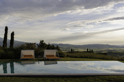 The pool at Tuscany's La Bandita