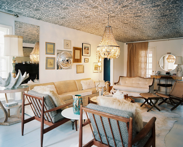 Vintage Living Room Photos (110 of 141) - Lonny - Eclectic Ceilings
