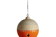 A colorfully creative ball ornament