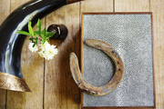 Rustic barn details in an equestrian tack room