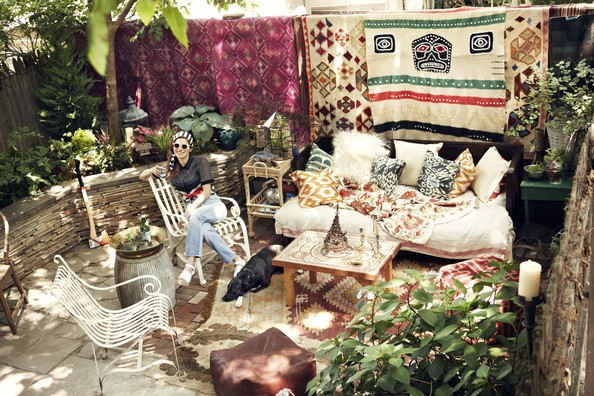 Bohemian Bounty Outdoor Patio Design Ideas Lonny