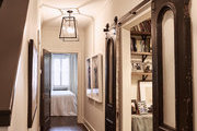 A hallway with traditional accents.