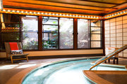 An indoor pool at the Golden Door Spa