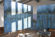 Oil paintings by Pepa Poch in her rustic Costa Brava art studio.