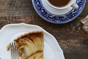 A pear tart served at Maman, a cafe in New York City