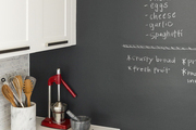 Chalkboard wall featured in a contemporary kitchen