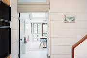 White paneled walls in a hallway