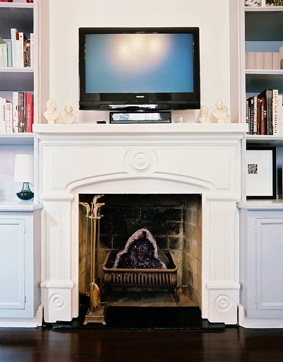 Tv above fireplace photos design ideas remodel and for Tv over fireplace