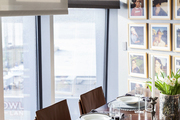 A dining room looks over New York City's Chelsea neighborhood