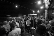 The outdoor crowd at The Thomas restaurant and Fagiani's Bar in downtown Napa
