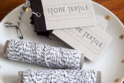 Stone Textile Studio labels and twine