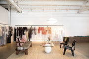 A modern retail store with neutral decor.