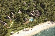 An aerial view of Dedon Island, a resort in the Philippines