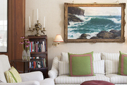 Comfortable seating in a traditional living room
