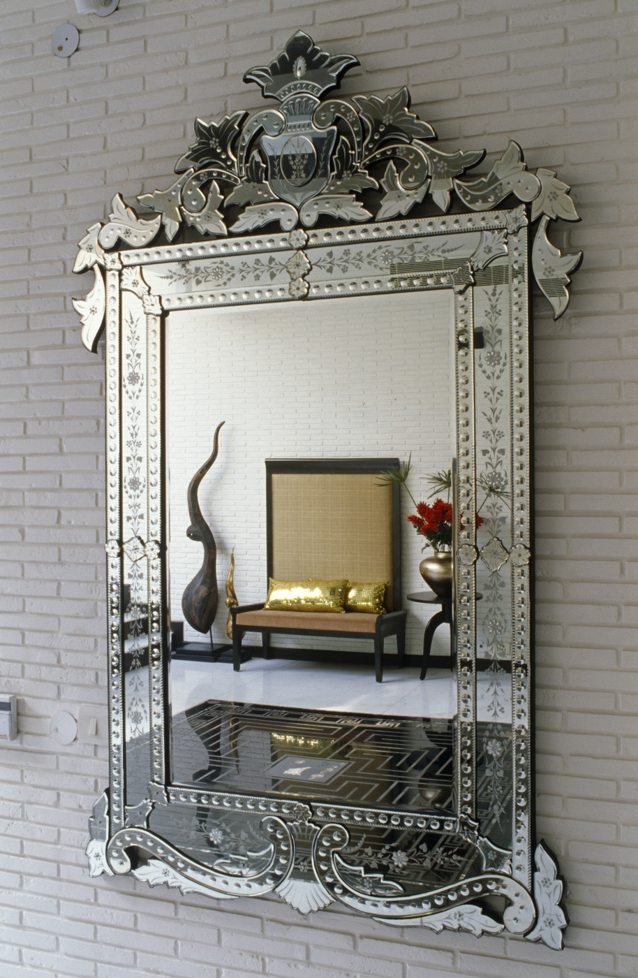 Antique Mirror Living Room