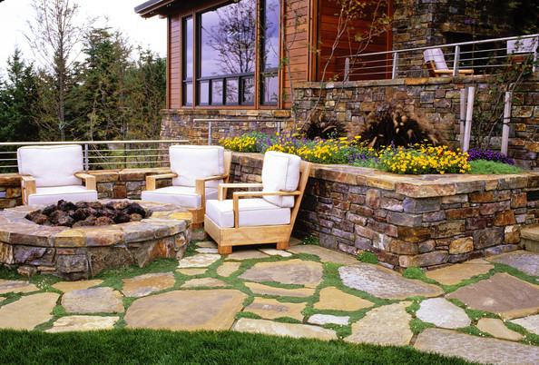 Country Patio Fire Pit Ideas